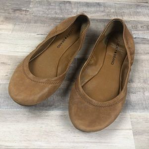 Lucky Brand Tan Leather Ballet Flats